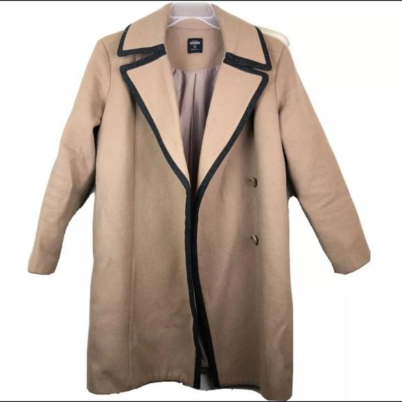 Kate Spade Coat Peacoat Saturday Camel Wool Long S
